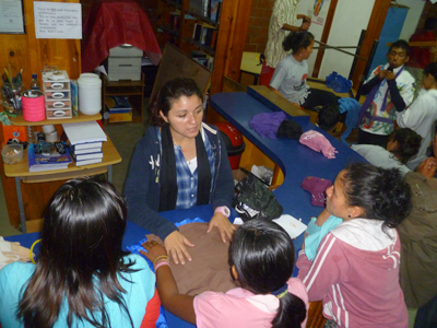 Julissa at NPH Guatemala in the vocational workshops.
