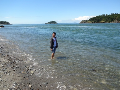 At Deception Pass - that water is COLD!