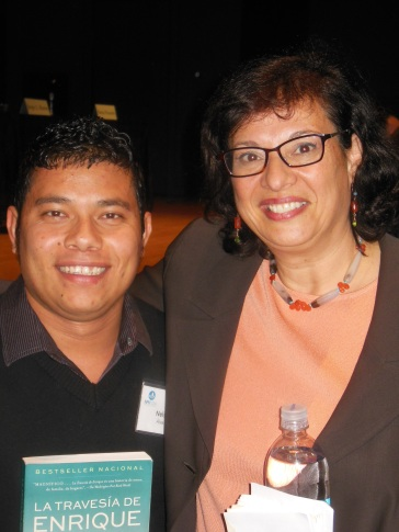 Nelson (NPH Honduras) with author, Sonia Nazario.