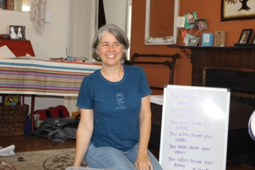 Vicky teaching, 2015. Vicky and Ethan volunteered in Honduras!
